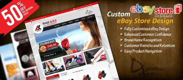 Creative and attractive eBay store design by Dynamic Experts Solution