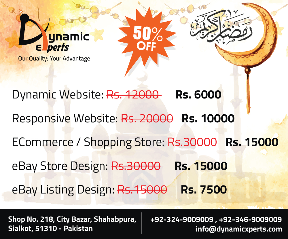 Celebrate this Ramadan with our special offers!!!
