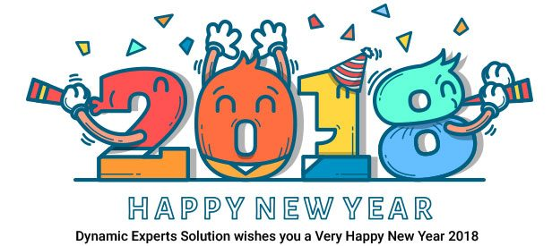 Dynamic Experts wishes Happy New Year 2018 to all.